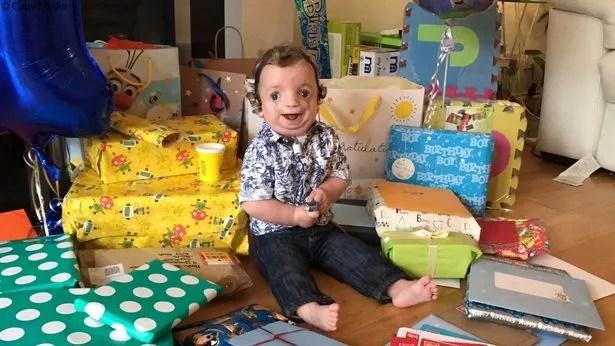 Ryan celebrates his first birthday