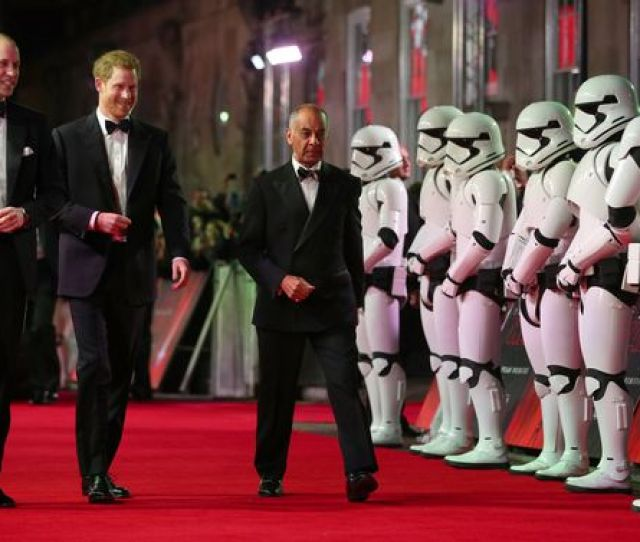 William And Harry Were Also Greeted By A Battalion Of Stormtroopers Image Reuters