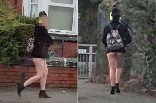 Image result for Woman stopped by police because they thought she was walking naked