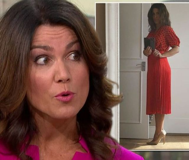 Gmbs Susanna Reid Shows Off Her Seriously Sexy Side In Flaming Red Outfit