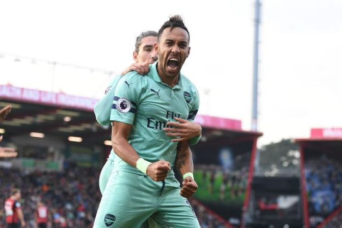 Image result for bournemouth 1-2 arsenal