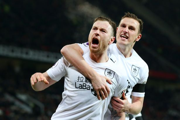Burnley strikers Ashley Barnes and Chris Wood are both out of Monday's match