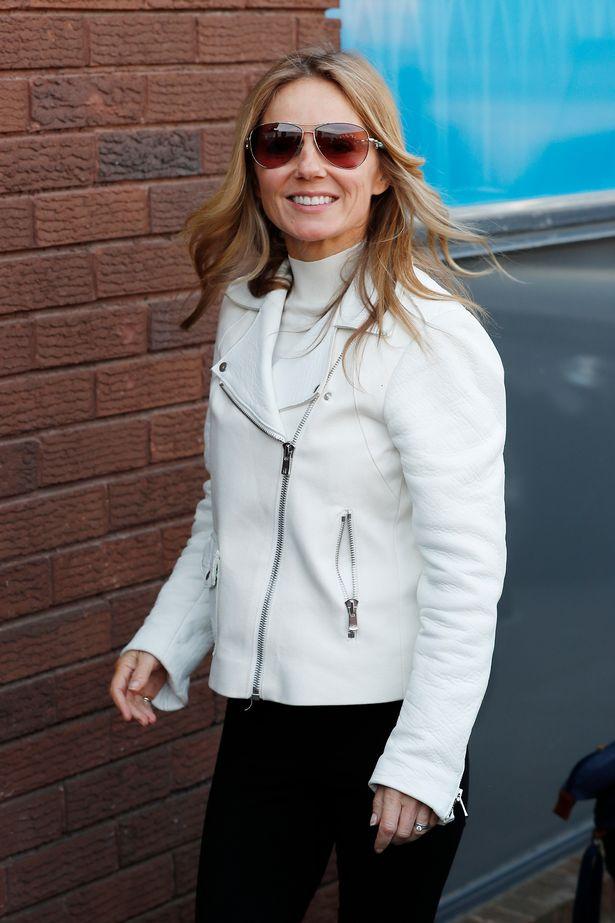 Geri Horner arrives at Spice Girls rehearsals on Monday