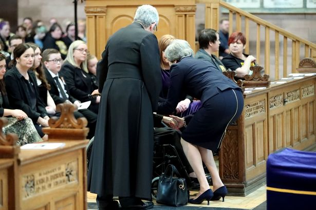 The Prime Minister spoke with relatives and the funeral today