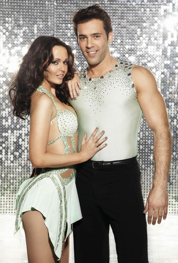 Jennifer Metcalfe with her dance partner Sylvian Longchambon