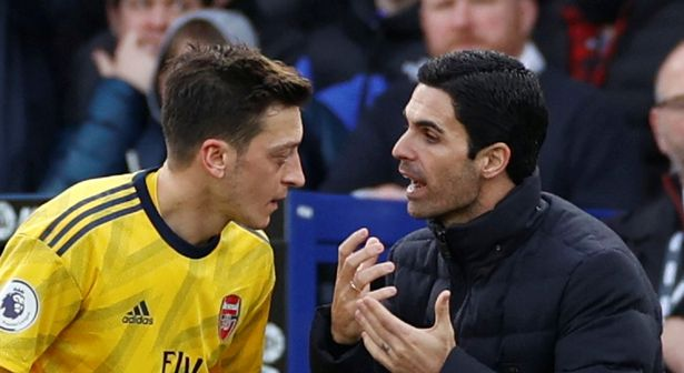 Ozil fell out of favor under Mikel Arteta at Arsenal