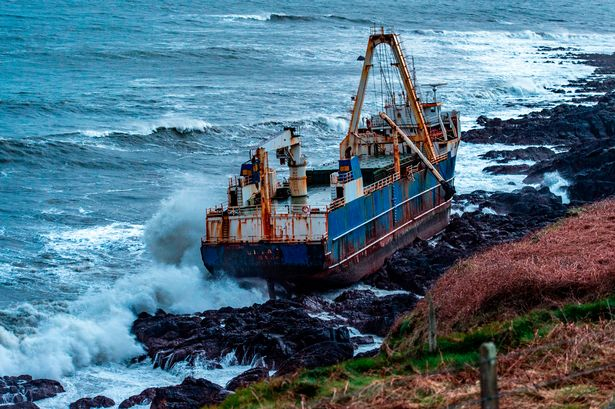 The ghost ship ran aground at Ballycotton in Cork
