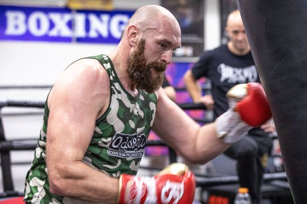 Fury trains for a trilogy fight with Wilder