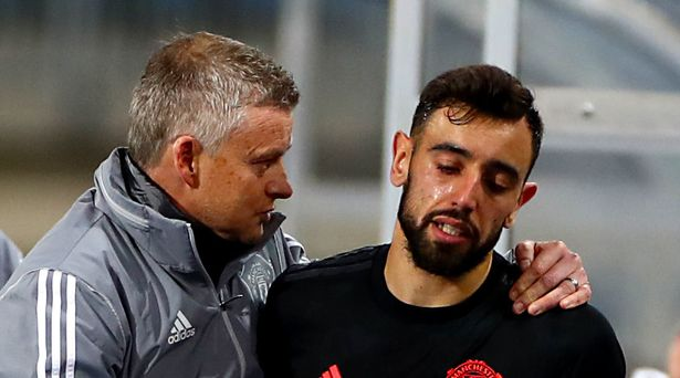 """Ole Gunnar Solskjaer told to """"have a word"""" with Bruno Fernandes for 'bad  antics' - Mirror Online"""