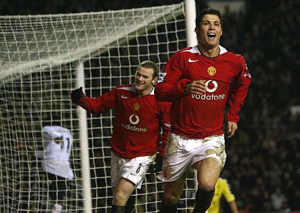 It took Ronaldo (R) a little while to find his feet at United