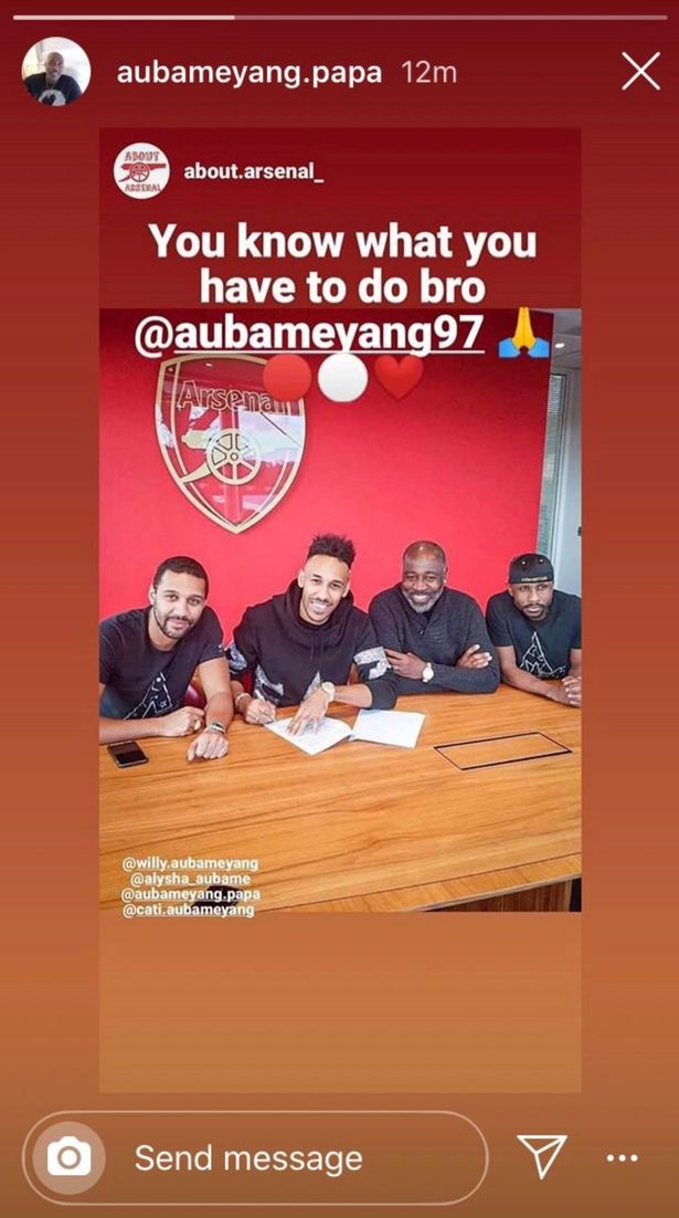 Player's father hinted he would sign new contract