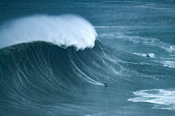 The surfer is used to tackling some of the biggest waves in the world