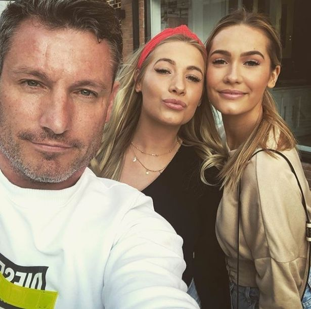 Dean Gaffney with his twin daughters, Chloe and Charlotte, 24