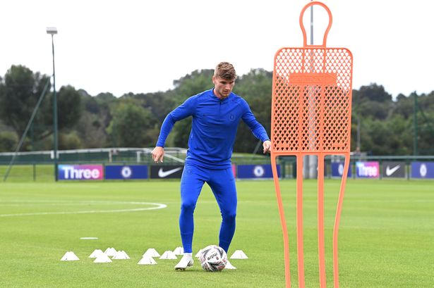 Timo Werner links up with Chelsea for first time as German star ...