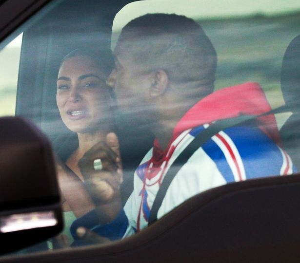 2 PAY PREMIUM EXCLUSIVE Kim Kardashian appears to be crying during what looks to be a heated argument wi