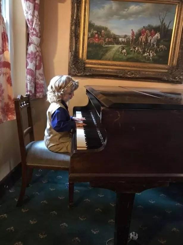 Ryan likes to play the piano