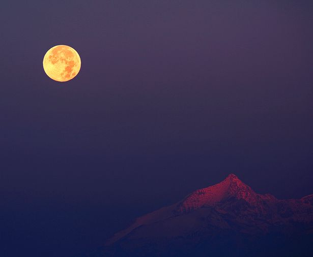 Hunter's Moon over the Alps
