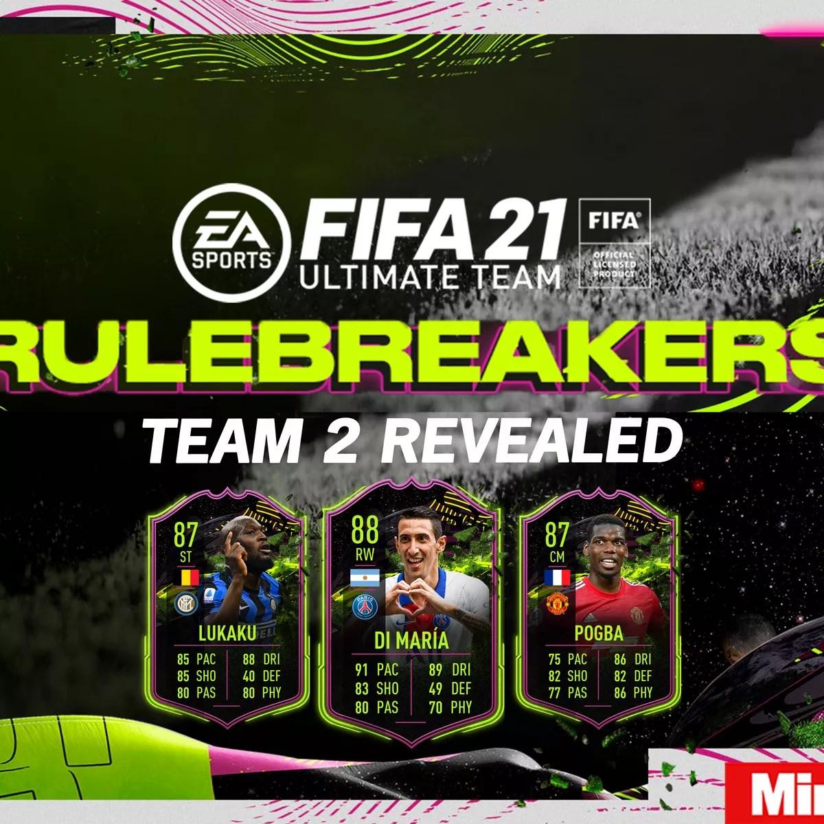 fifa 21 rulebreakers team 2 confirmed