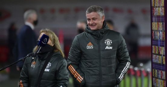 Ole Gunnar Solskjaer answers a question about the chances for the Man Utda title