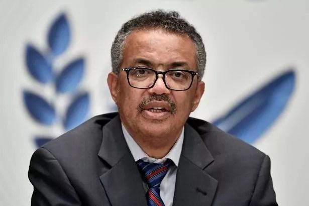 0 FILE PHOTO World Health Organization Director General Tedros Adhanom Ghebreyesus attends a news con