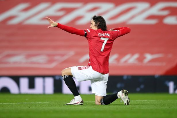 Cavani was due to feature for the Red Devils in the second leg of the last-16 tie