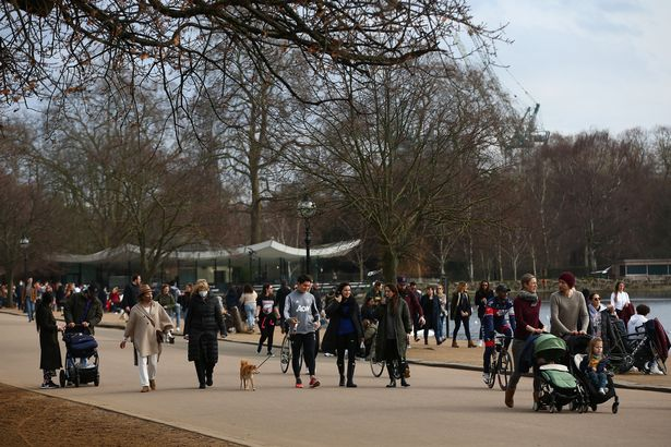 Londoners headed to Hyde Park to enjoy the weather