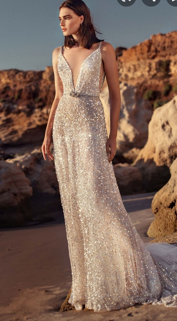 A sparkly wedding dress the mother-in-law wanted to wear on her son's big day