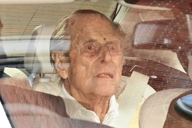 Prince Philip leaves King Edward VII's Hospital in central London