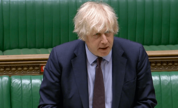 Boris Johnson announcing the findings of the Integrated Review in the Commons today