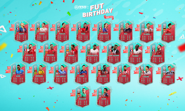 The FIFA 20 FUT Birthday Team 1 and Team 2
