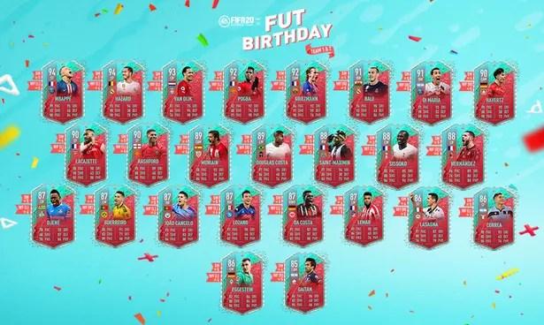 The FIFA 20 FUT Birthday Team 1 + 2