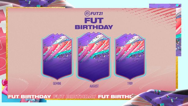 The confirmed FIFA 21 FUT Birthday card design