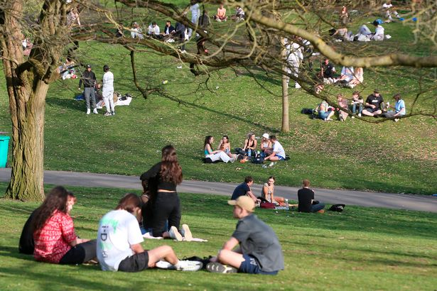 A view of park users at the Nottingham Arboretum