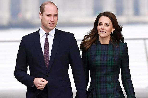 Catherine, Duchess of Cambridge and Prince William, Duke of Cambridge arrive to officially open V&A Dundee on January 29, 2019 in Dundee, Scotland