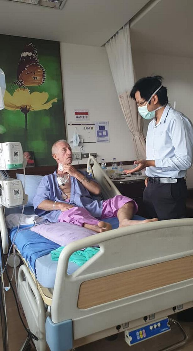 Doctors in Thailand have been treating Andy