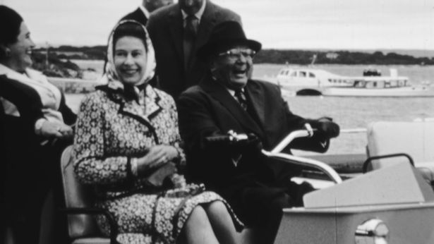 A young queen rises with President Tito Belgrade in 1972