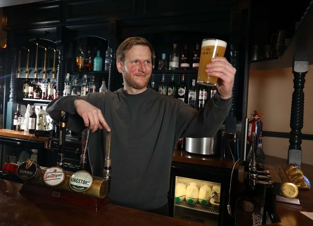 Jordan Hadield prepares for opening at The Emmott Arms in Laneshaw Bridge
