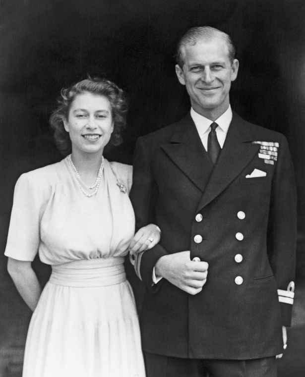 Philip and the Queen shortly after their engagement in 1947