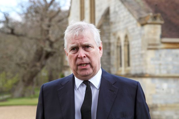 The Duke of York during a television interview at the Royal Chapel of All Saints after Prince Philip's death