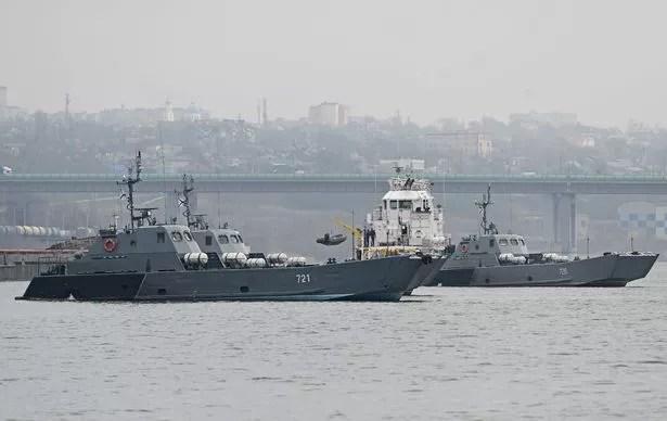 Statki flotylli kaspijskiej rosyjskiej marynarki wojennej zostały zauważone przemieszczające się na Morze Czarne