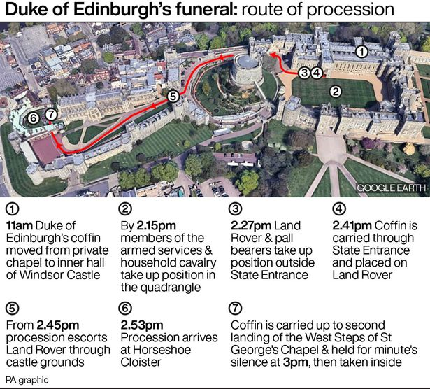 A tight timetable for the transportation of the duke's body will be followed