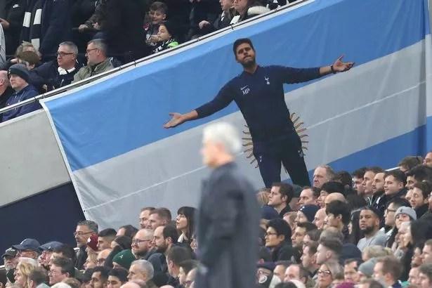 The shadow of Mauricio Pochettino loomed large over Mourinho