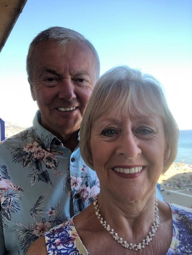 David O'Brien and wife Lynda from Liverpool who had planned to take their family on a dream holiday to Majorca