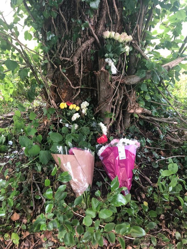 Tributes were left for the family following the crash