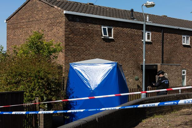 Police at the scene on Lapworth Grove, Balsall Heath, Birmingham