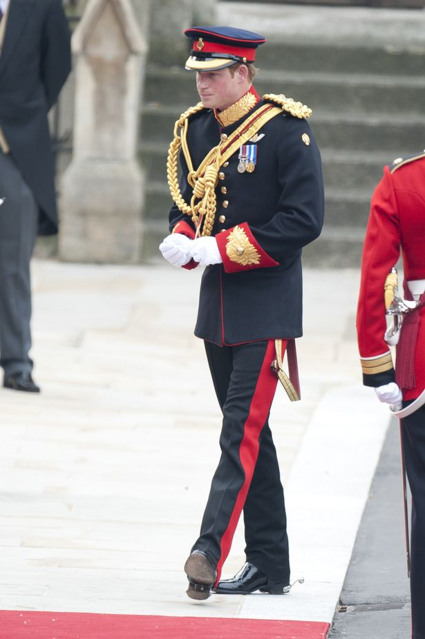 Prince Harry Arrives At Westminster Abbey