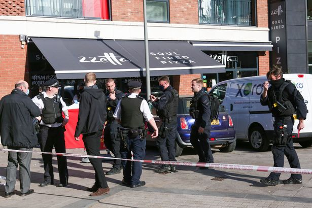 Police investigate after the boy was found stabbed on Barking Road, Canning Town