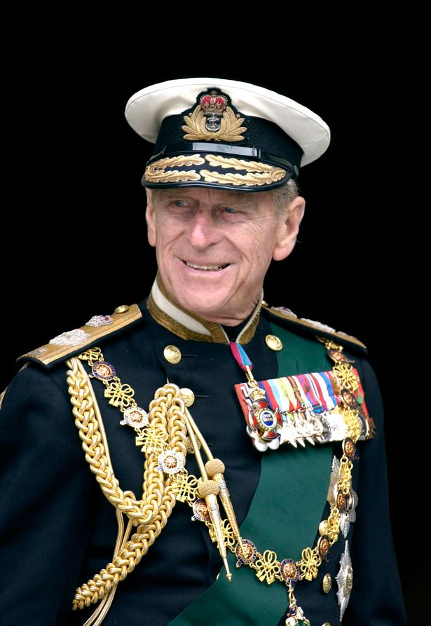 Prince Philip In Naval Uniform With Medals At St. Paul's Cathedral On The Day Of The Service To Mark The Golden Jubilee
