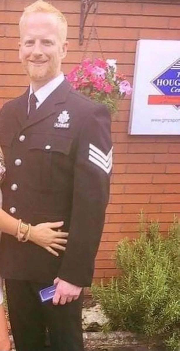 A smiling Sgt Martin Dunn