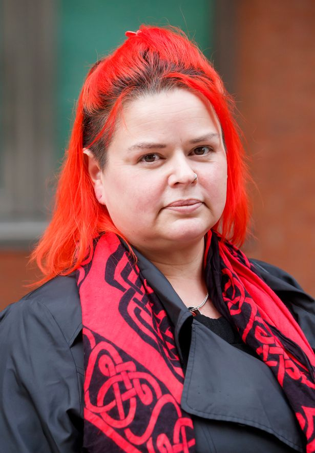 Widow Claire Mercer outside Sheffield Crown Court